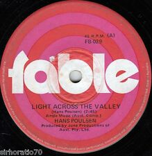 HANS POULSEN Lights Across The Valley / Jenny Come Out Of Hiding  1970 OZ 45