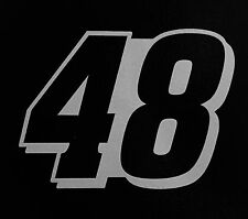 (2) # 48 Jimmie Johnson Racing Vinyl Die Cut Decal Nascar Sticker 5""