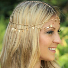 Medieval Headdress - Lovely  Gold Tone Chain and coins - Very Elegant
