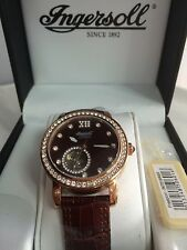 Ingersol lLady's Watch Freeport  IN7215BR SWAROVSKI CRYSTAL  Leather strap