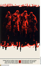 Political cuban poster.Arabs on horse fight for Oil.23.Socialism World History