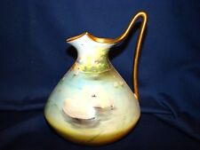 Nippon Hand Painted Swans Ewer Pitcher