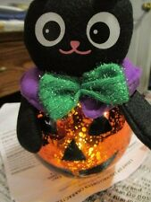 "AVON LIGHT-UP LED HALLOWEEN ""CAT""CHARACTER 7"" Tall x 4"" Wide Frabic & Plastic"