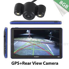 XGODY 7 inch Car GPS Navigator Bluetooth Navigation with Wire Rear View Camera