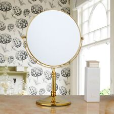 Golden Bathroom Make Up Mirror Foldable Beauty Stand Mirror 3× Magnifying