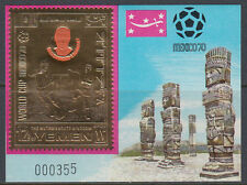 Yemen Kgr 1970 ** Bl.196 Fußball Football Weltmeisterschaft World Cup Mexiko