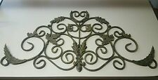 Large Tuscan Wrought Iron Metal Wall Decor Rustic Antique Garden Indoor Set of 2