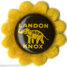 1936 Campaign Alfred LANDON Frank KNOX Sunflower Button w/ Felt Backing (1727)