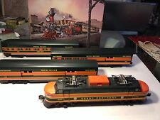 O GAUGE LIONEL GREAT NORTHERN EP5 LOCO & 3 ALUMINUM PASSENGER CARS- NICE-LOOK