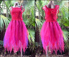 Fairy Dress Party Costume with Wings – WOMEN'S ONE SIZE - Fuchsia/Purple