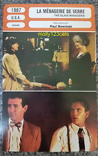 US Film The Glass Menagerie Paul Newman Joanne Woodward French Film Trade Card