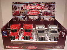 Pack of 4 Peterbilt 389 Sleeper Semi Tractor Rig Truck 1:32 New Ray 12 inch