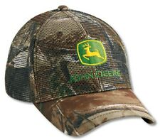 NEW John Deere All Mesh Realtree Hardwoods Camo Cap JD Hat  LP27813