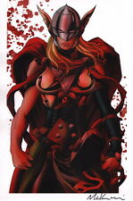 Mike McKone SIGNED Marvel Comic Avengers Art Print ~ Lady Thor