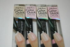 4 NEW SALLY HANSEN  NAIL PEN COLOR, CLEAR OPAL,SAND SHIMMER, SHEER BEIGE & PINK