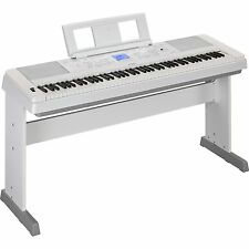 In BOX White Yamaha DGX650 88 Weighted Key Portable Digital Grand Piano Keyboard