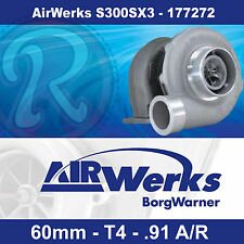 Borg Warner Airwerks S300SX3 Turbo-60mm-T4-Twin Scroll-0.91 A/R 320-800hp 177272