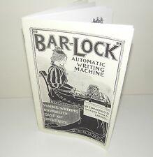 Bar Lock Typewriter Brochure