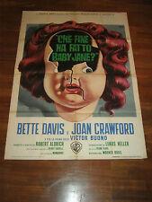 MANIFESTO,Che fine ha fatto Baby Jane,What Ever Happened to,Bette Davis,Crawford