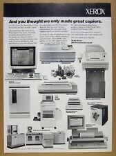 1988 XEROX XPS 701 Publishing System Laser Printers Fax Machine vintage print Ad