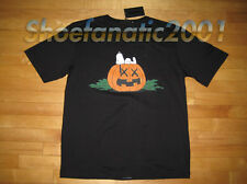 Original Fake KAWS Snoopy Peanuts Halloween Shirt Chomper Supreme XL 4 Black