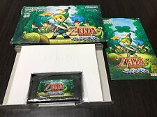 Gameboy Advance The Legend of Zelda The Minish Cap with Box,Manual Japan ZF02