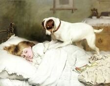 Custom any Charles Burton Barber Oil Painting repro Time to Wake Up