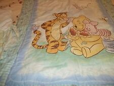 Disney Winnie The Pooh Baby Quilt /Comforter Crib Skirt 7 pieces