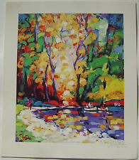 "DANI, SHKELQIM ""IN THE PARK"" LTD ED SERIOLITHOGRAPH in COLOR-SIGNED-2003"