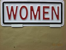 WOMEN 3-D Embossed Plastic Sign 4x11 High Visibility Light Weight Restroom Label