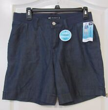 LEE Chambray Relaxed Knit Waistband Fit Shorts BLUE Women's Sz.4M NWT MSRP$44