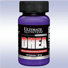 ULTIMATE NUTRITION DHEA 50 MG (100 CAPS) renewed well being energy rejuvenation