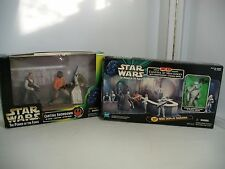 STAR WARS POTF LOT CANTINA AT MOS EISLEY 3-D DIORAMA AND CANTINA SHOWDOWN ~ MISB