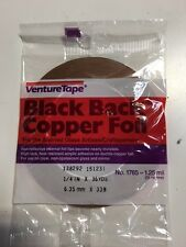 "1/4"" Copper Foil BLACK BACK - 1 Roll (Venture Tape) - stained glass supplies"