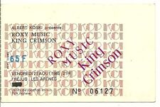 RARE / TICKET CONCERT - ROXY MUSIC + KING CRIMSON LIVE A FREJUS ( FRANCE ) 1982