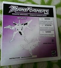Transformers RID SKY-BYTE INSTRUCTION BOOKLET FREE S/H