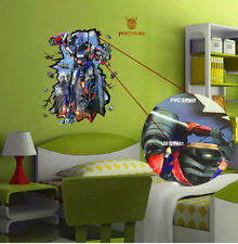 New Transformers Wall Decal Stickers Art Kids Bedroom Waterproof Removable Decor