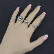 Women Vintage Popular Antique Silver Gold Plated Knuckle Mid Finger Rings