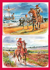 Four unposted cards. The death of King William 11. Son of William the Conqueror