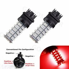 2X Pure Red Car 3157 68-SMD Brake Tail Stop Light LED Bulbs 3057 3457 4157 3047