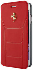 Genuine Ferrari 488 Book Type Case Cover Gold Logo For iPhone 7 Leather Red