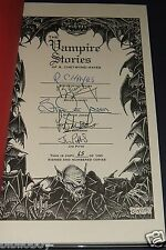 Signed limited Edition Of The Vampire Stories of Ronald Chetwynd-Hayes As New