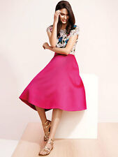 NEW NWOT COAST CORO HOT PINK A-LINE PROM MIDI PARTY SKIRT UK 8 EU 36 US 4