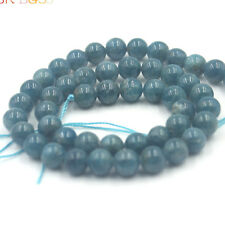 "Jewelry Natural Round 3A Grade Blue Kyanite Gemstone Beads Strand 15"" 8mm"