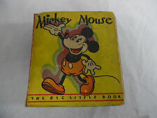 Vintage Mickey Mouse 1st 1933 The Big Little Book Walt Disney