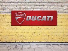 DUCATI MOTORBIKE logo sign for workshop, garage, office or showroom pvc banner