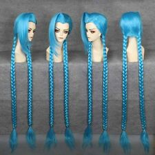 Hot new style Cheap long 130cm LOL-Jinx BLUE Cosplay Anime Wigs Free Shipping1