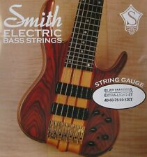 KEN SMITH SMXL-5T SLAP MASTERS STAINLESS STEEL BASS STRINGS, TAPER B 5's, 40-120