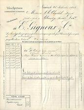 CLERMONT-FERRAND FACTURE MARTIN & GRELLET DISTILLERIE LIQUEUR DU MONT-DORE 1899