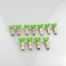 10X Photo Paper DIY Wall Art Picture Hanging Mini Heart Shape Pin Wood Clips